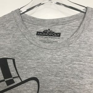 Monopoly Shirts - Monopoly Hustlin All Day Gray Graphic Tee A020485